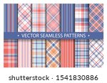 tartan set pattern seamless... | Shutterstock .eps vector #1541830886