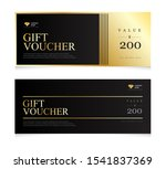 gift voucher template with... | Shutterstock .eps vector #1541837369