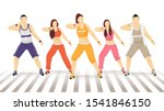 group of faceless man and woman ... | Shutterstock .eps vector #1541846150