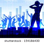 music dj  night party... | Shutterstock . vector #154186430