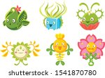 cute monsters set  funny...