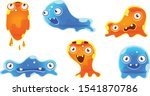 cute jelly monsters set  funny...