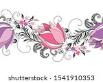 seamless fancy vector flower... | Shutterstock .eps vector #1541910353