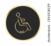 handicap icon for your project  | Shutterstock . vector #1541918159