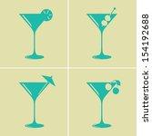 vintage colored martini...