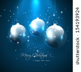 christmas greeting card with...   Shutterstock .eps vector #154193924