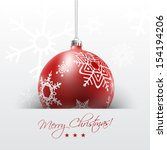 Christmas Card With Red Ball I...