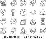 ecology line icon set. included ... | Shutterstock .eps vector #1541942513