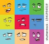 funny avatars  emoji flat... | Shutterstock .eps vector #1541954519