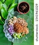 miang kham is a tasty snack of... | Shutterstock . vector #1541961029