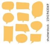hand drawn speech bubble vector ... | Shutterstock .eps vector #1541963069