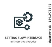 setting flow interface symbol... | Shutterstock .eps vector #1541975546