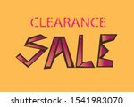 clearance sale banner in... | Shutterstock .eps vector #1541983070