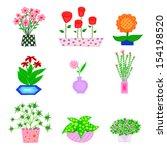flower set   Shutterstock .eps vector #154198520