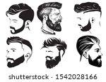 men hair style vector...   Shutterstock .eps vector #1542028166