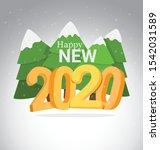 happy new 2020. year vector...   Shutterstock .eps vector #1542031589