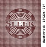 sleek red seamless badge with... | Shutterstock .eps vector #1542064319