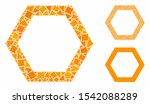 contour hexagon mosaic of... | Shutterstock .eps vector #1542088289