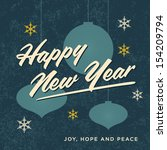 happy new year card retro... | Shutterstock .eps vector #154209794