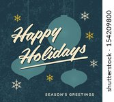 Happy Holidays Card Retro...
