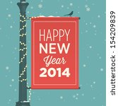 happy new year card | Shutterstock .eps vector #154209839