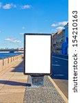 empty advertising billboard on... | Shutterstock . vector #154210163