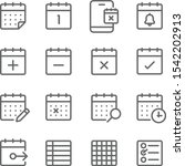 schedule icons set vector... | Shutterstock .eps vector #1542202913