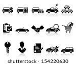 car dealership icons set  | Shutterstock .eps vector #154220630