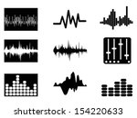 music soundwave icons set | Shutterstock .eps vector #154220633