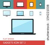 gadgets icons set. laptop....