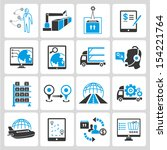 logistic icons set ... | Shutterstock .eps vector #154221764