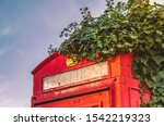 Ivy Growing Over The Top Of An...
