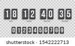 flip board under constuction... | Shutterstock .eps vector #1542222713