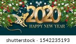 happy new year 2020. year of... | Shutterstock .eps vector #1542235193