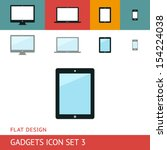 gadgets icons set. tablet....