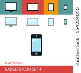 gadgets icons set. phone.... | Shutterstock .eps vector #154224050