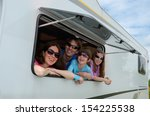 family vacation  rv travel with ...   Shutterstock . vector #154225538
