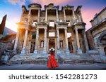 Woman Standing In Celsus...