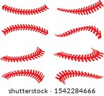 baseball stitches laces vector... | Shutterstock .eps vector #1542284666