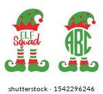 Cute Elf Squad Monogram Frame...