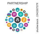 partnership infographic circle...