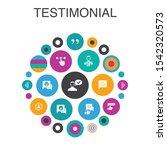 testimonial infographic circle...
