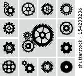 Gear Wheels Icons Set