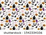 halloween silhouette character... | Shutterstock . vector #1542334106