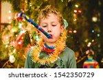 Child Celebrating The New Year...