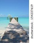 wooden pier. exuma  bahamas  | Shutterstock . vector #154237619