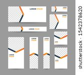 modern abstract geometric... | Shutterstock .eps vector #1542378620