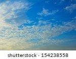 beautiful clouds on blue sky...   Shutterstock . vector #154238558