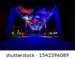 night garden in al malaz street ...   Shutterstock . vector #1542396089