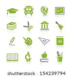 school and education icons   ... | Shutterstock .eps vector #154239794